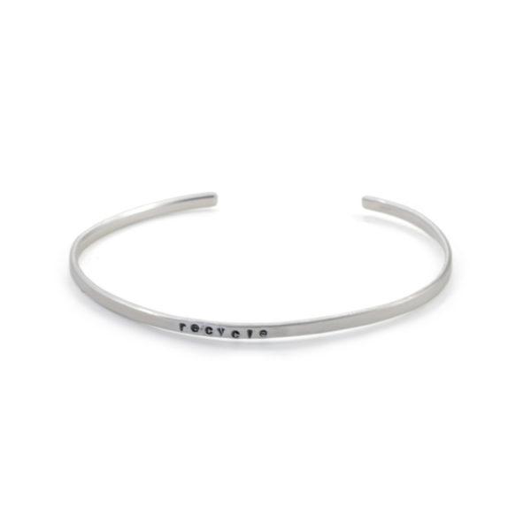 återvunnet silver återbruk smycken armband