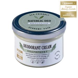 Naturlig Deo Grapefrukt bästa deodoranten ekologisk naturlig vegansk miljövänlig kemikaliefri aluminiumfri