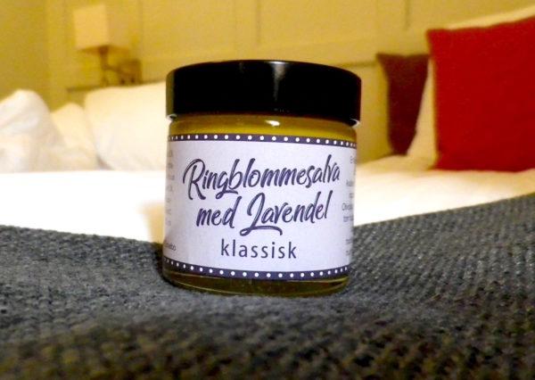 Salva kräm ringblomma ringblommskräm ringblommssalva naturlig hudvård naturlig naturen handgjord bivax lavendel